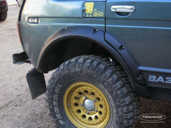 Расширители колесных арок Lada 4X4 5D (задний расширитель)