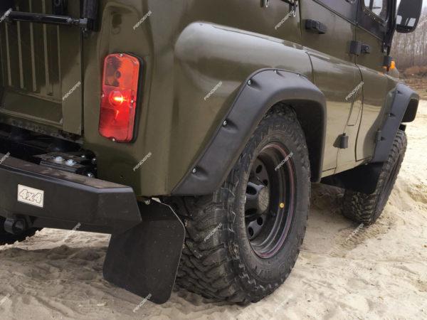Силовые расширители арок UAZ Hunter ход подвески